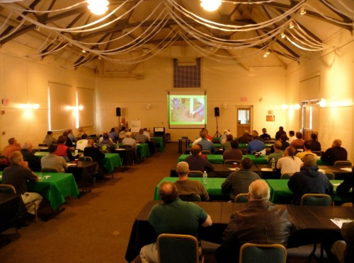 Quite a few arborists and other landscape professionals attended the workshop, which began with slide talks and then moved outside to field demonstrations.